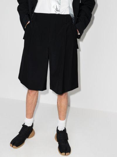 wide leg wool shorts