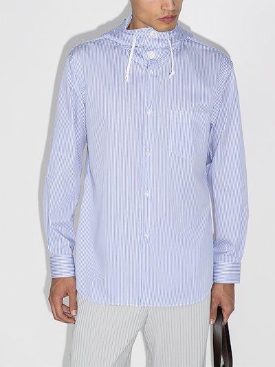 hooded drawstring shirt