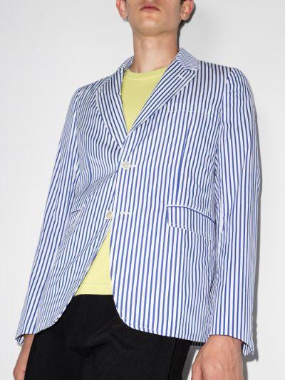 Striped Single-Breasted Blazer