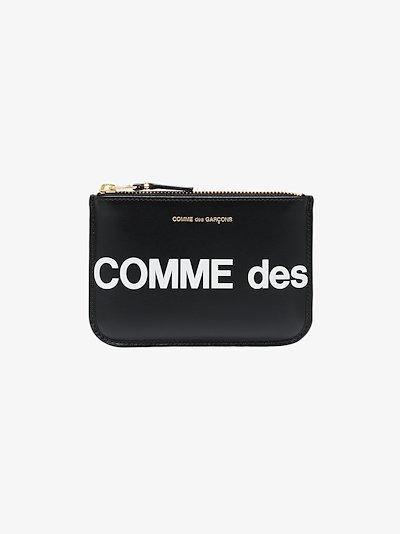 black logo leather wallet
