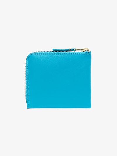 blue Classic half-zip leather wallet