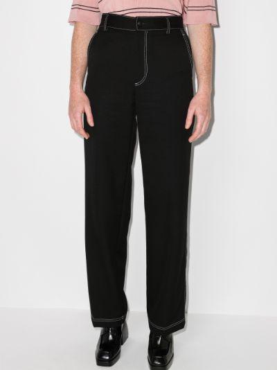 X Browns Focus high waist straight leg trousers