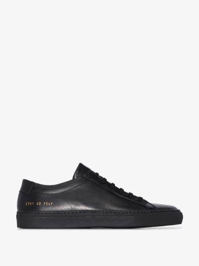 black Achilles low top sneakers