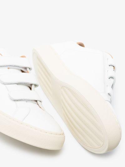 white achilles low velcro sneakers