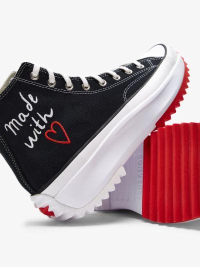Black Run Star high top sneakers