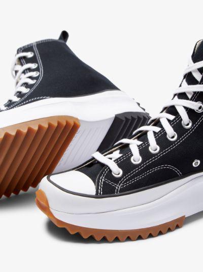 Black Run Star Hike High Top Sneakers
