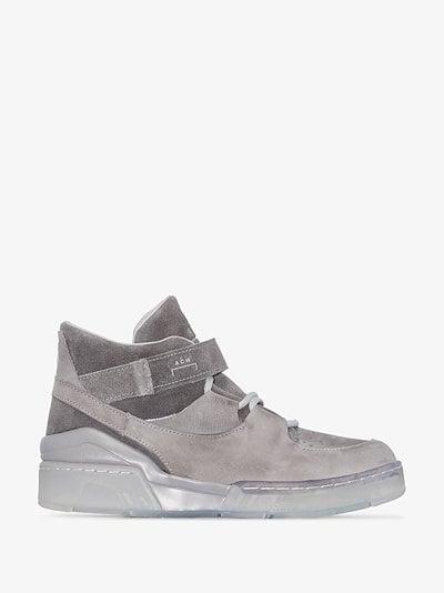 grey ERX 260 high top suede sneakers