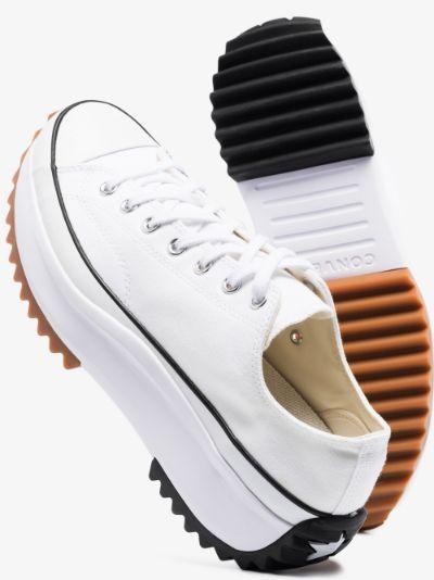 White run star hike sneakers