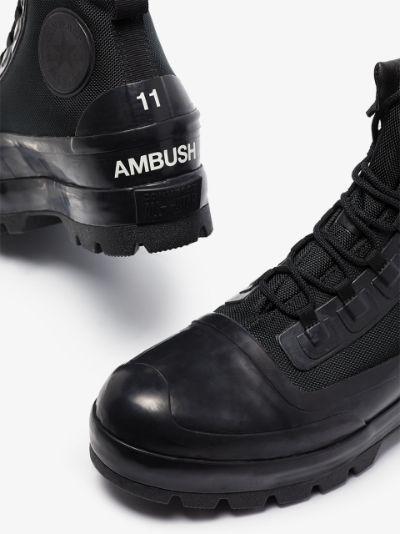 X AMBUSH black CTAS duck boots