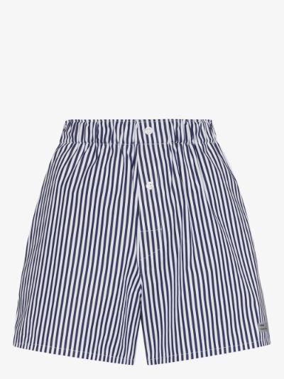 Striped Cotton Poplin Boxer Shorts