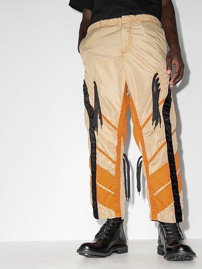 Flower Diamond tasselled trousers