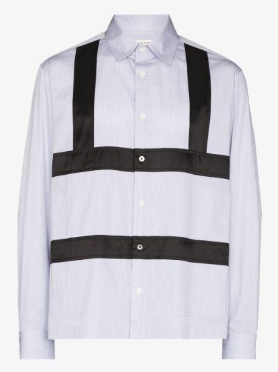 harness strap cotton shirt