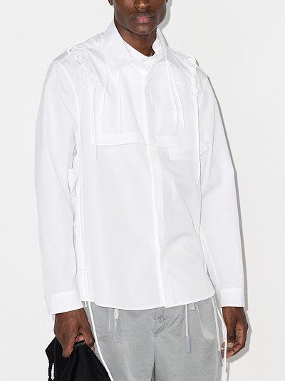 lace detail cotton shirt