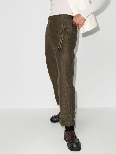 uniform straight leg cotton trousers