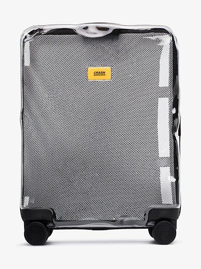 Black Share transparent rolling suitcase