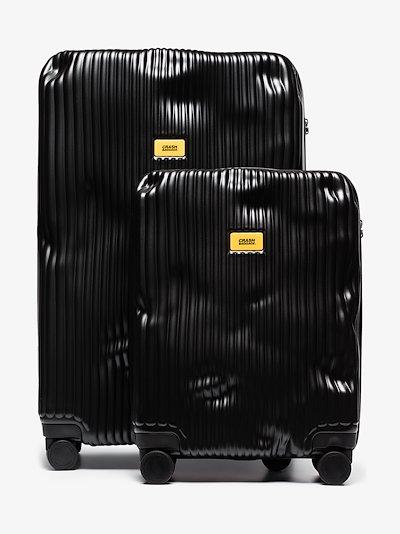 black stripe cabin suitcase set