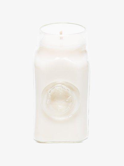 white diaphanous candle