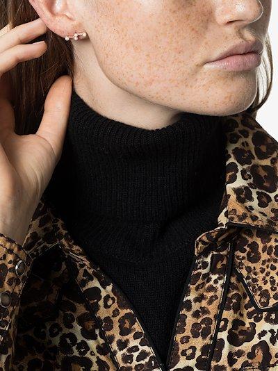 14K rose gold Ivy diamond bar earrings