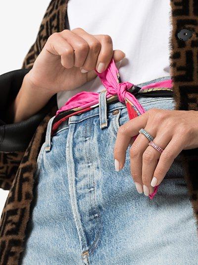 14K rose gold Krystyn Kylie baguette sapphire ring