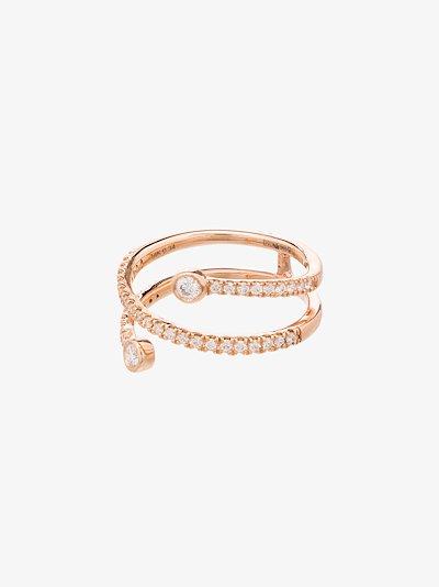 14K rose gold Lulu Jack pavé set diamond wrap ring