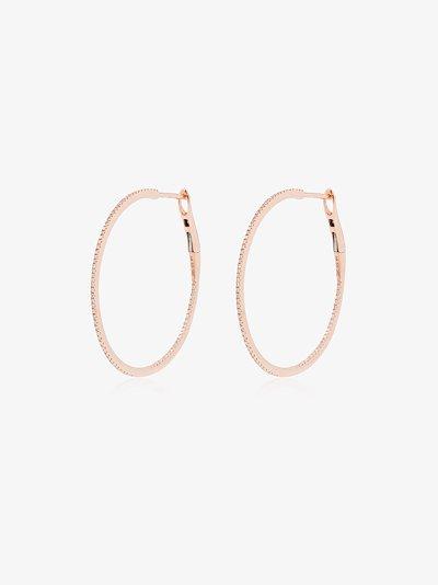 14K rose gold Marge diamond hoop earrings