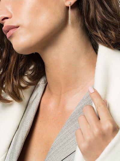 14K rose gold Sylvie pearl diamond earrings