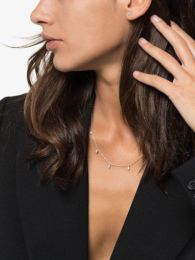 14K white gold Lauren Joy diamond earrings