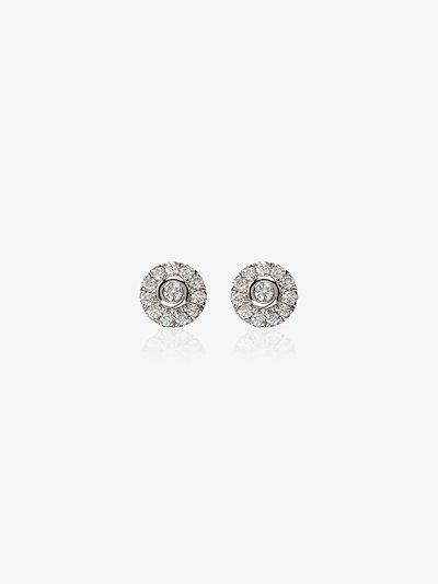 14K white gold Lauren Joy diamond stud earrings