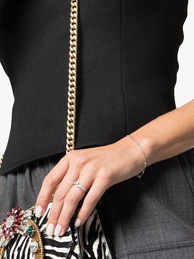 14K white gold Lulu Jack Bezel diamond bracelet