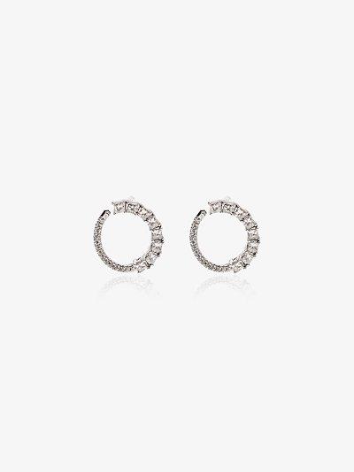 14K white gold Sadie wrap diamond earrings
