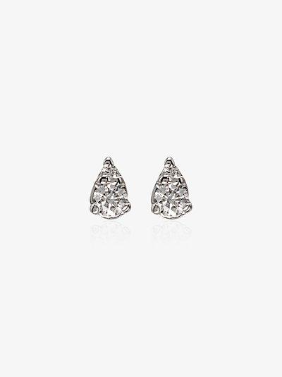 14K white gold Sophia Ryan petite  teardrop diamond earrings
