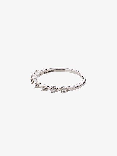 14K white gold sophia ryan teardrop diamond ring