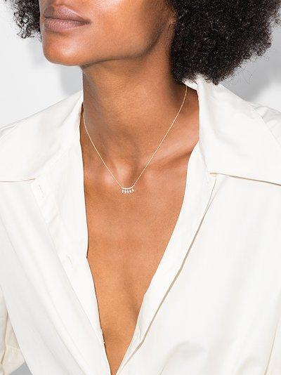 14K yellow gold Alexa Jordyn diamond necklace