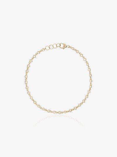 14K Yellow Gold Lulu Bezel Diamond Bracelet