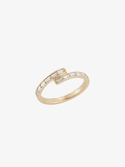 14K yellow gold Sadie Pearl diamond bypass ring