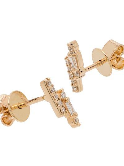 14K yellow gold Sadie staggered diamond earrings