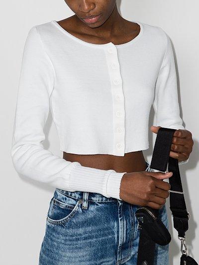 cropped cotton cardigan