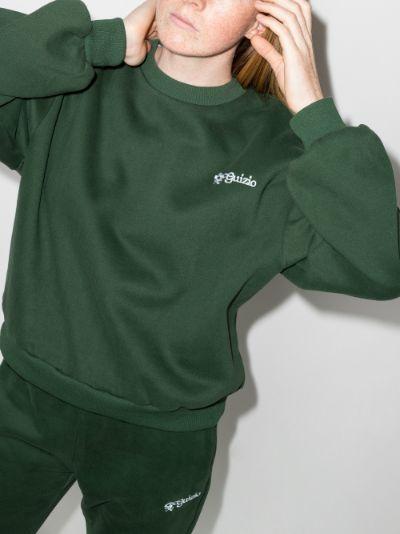 Floral Logo Crew neck sweatshirt