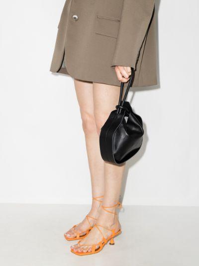 black Lake leather clutch bag