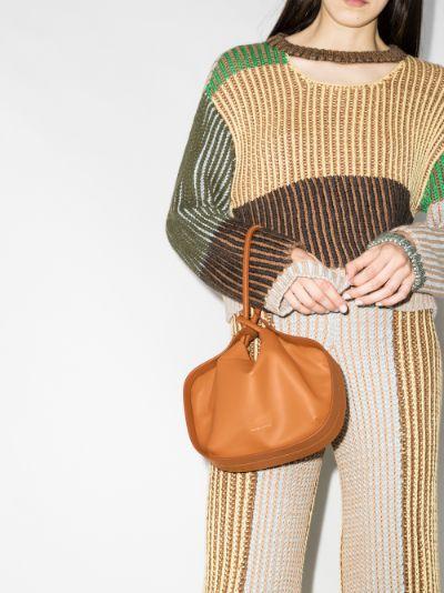 brown lake leather clutch bag