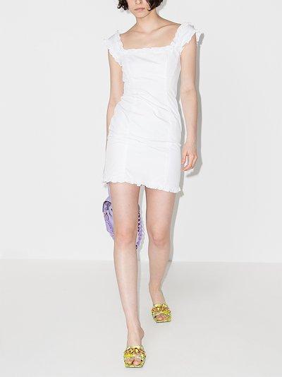 Bandana ruffled mini dress