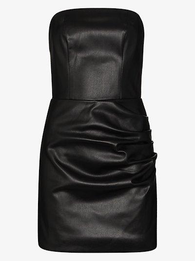 Connie faux leather mini dress
