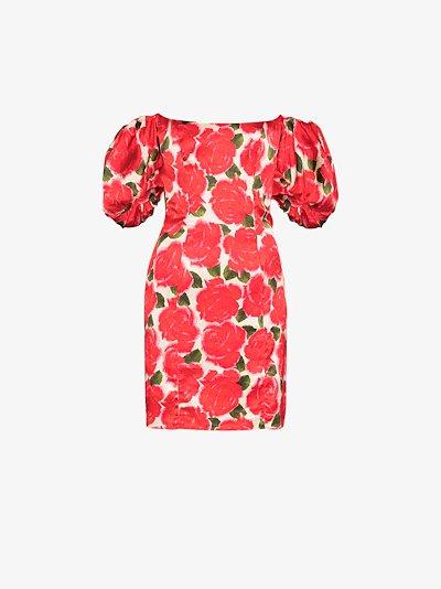 Koko floral puff sleeve mini dress