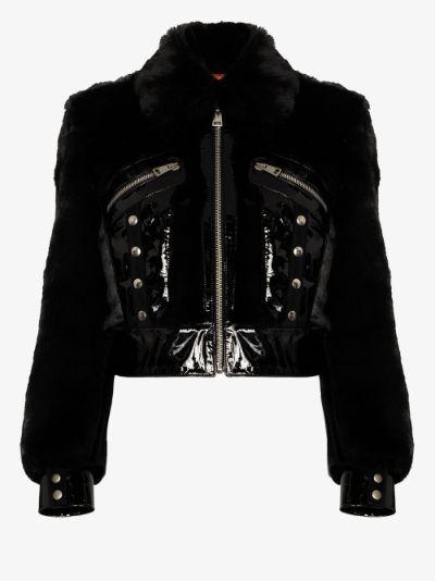 Liam cropped faux fur jacket
