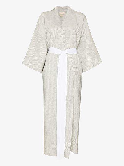 The 02 pinstripe kimono robe