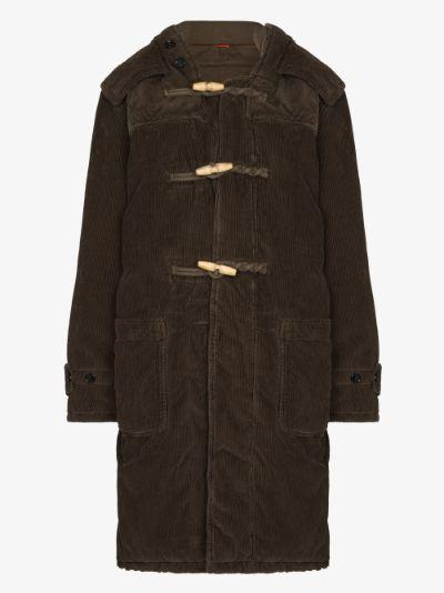 corduroy hooded duffle coat
