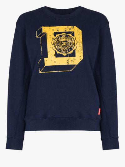 university logo print sweatshirt