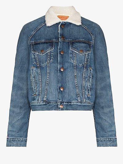 Xeter shearling collar denim jacket