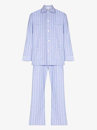 Arran striped cotton pyjamas
