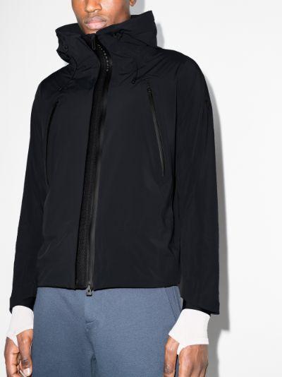 black Creas hooded shell jacket
